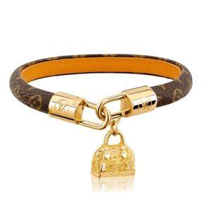 Authentic Louis Vuitton Alma leather bracelet